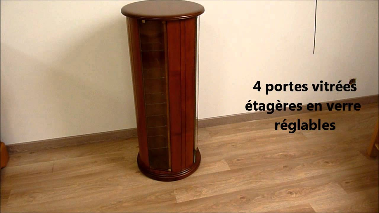 meuble rangement cd dvd en merisier massif colonne. Black Bedroom Furniture Sets. Home Design Ideas