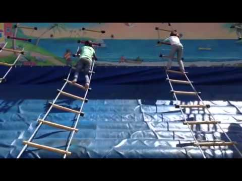 how to make a rope ladder carnival game
