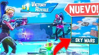 JUGANDO A SKY WARS EN *PATIO DE JUEGOS* FORTNITE | BATTLE ROYALE