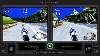Sega Manx TT Superbike (PC vs Sega Saturn) Side by Side Comparison