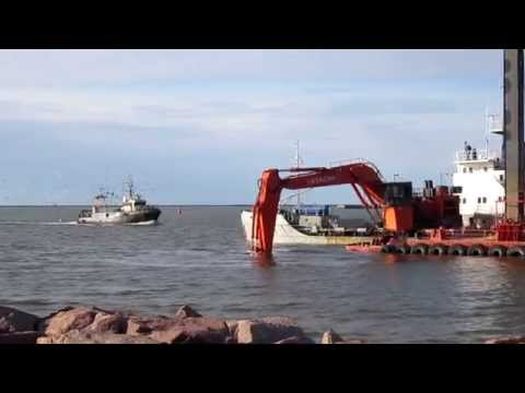 The deepening of the sea port of Liepaja.