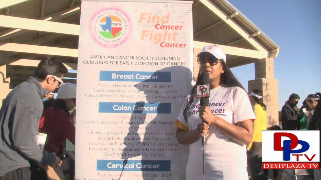 Dr.Hima Reddy of TIPS speaking DPTV at DATA 4th Annual 5K Run/walk in honor Nishant Venishetty