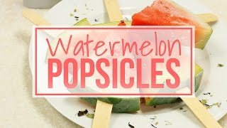 Yummy Watermelon Slice Popsicles - Only 85 Calories!