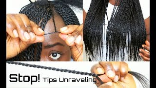 How to stop senegalese twist tips or ends from unraveling neatest twist seal ends tutorial