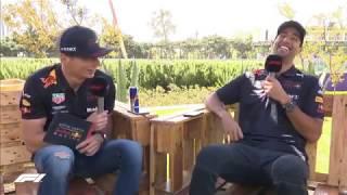 Funny: Live Q&A with Daniel Ricciardo & Max Verstappen   F1 Azerbaijan GP 2018