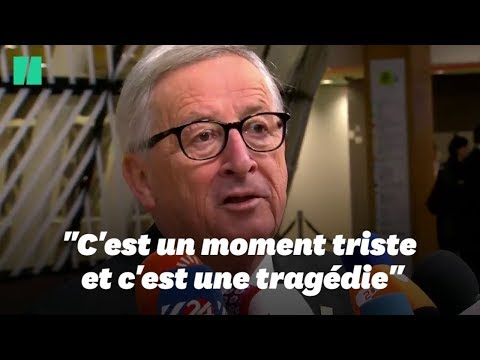 """La signature de l'accord sur le Brexit est une """"tragédie"""" selon Juncker"""