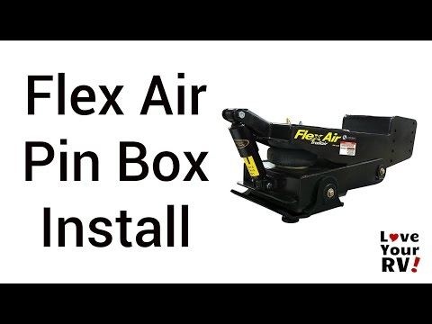 Installing a Flex Air Pin Box -  Cougar Fifth Wheel Trailer
