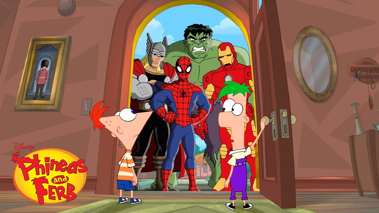 Phineas & Ferb Meet the Avengers | Phineas and Ferb | Disney XD
