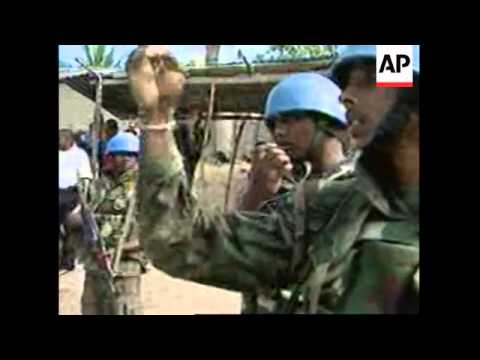 Residents erect blockade to protest UN peacekeeping presence