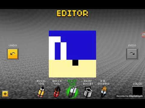 how to make a sonic skin pixel gun 3d youtube