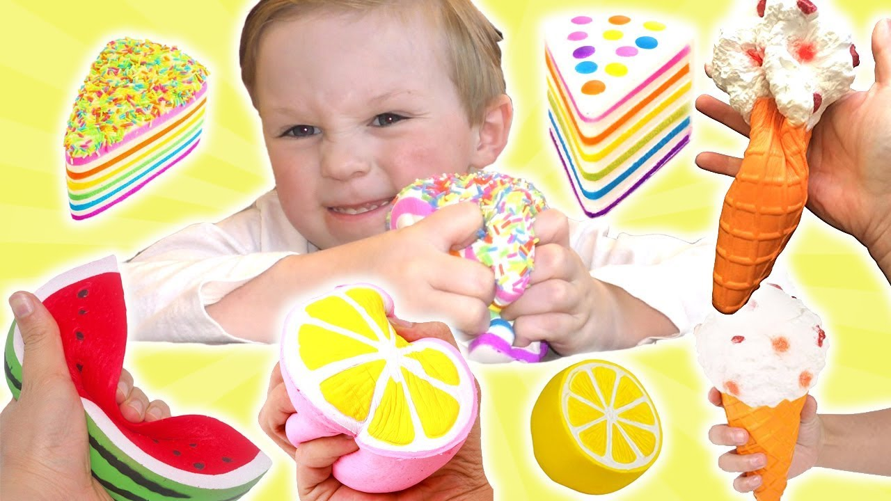 My Squishy Collection Ita : My Real Food Squishy Collection DavidsTV - YouTube