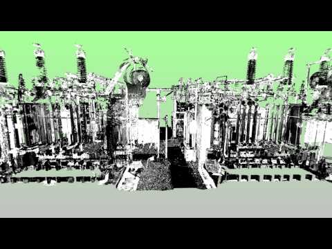 Electrical Substation Pointcloud Flythrough