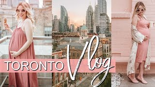 Weekly Vlog in TORONTO | What I Wore 33 Weeks Pregnant