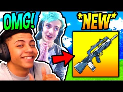 NINJA & MYTH REACT TO *NEW* FAMAS BURST ASSAULT RIFLE! *LEGENDARY* Fortnite FUNNY Moments