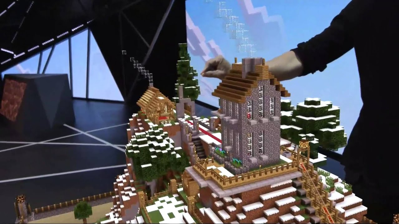 6ac1d4d18b7 Hololens Minecraft Live demo E3 2015 Microsoft Xbox Conference - YouTube