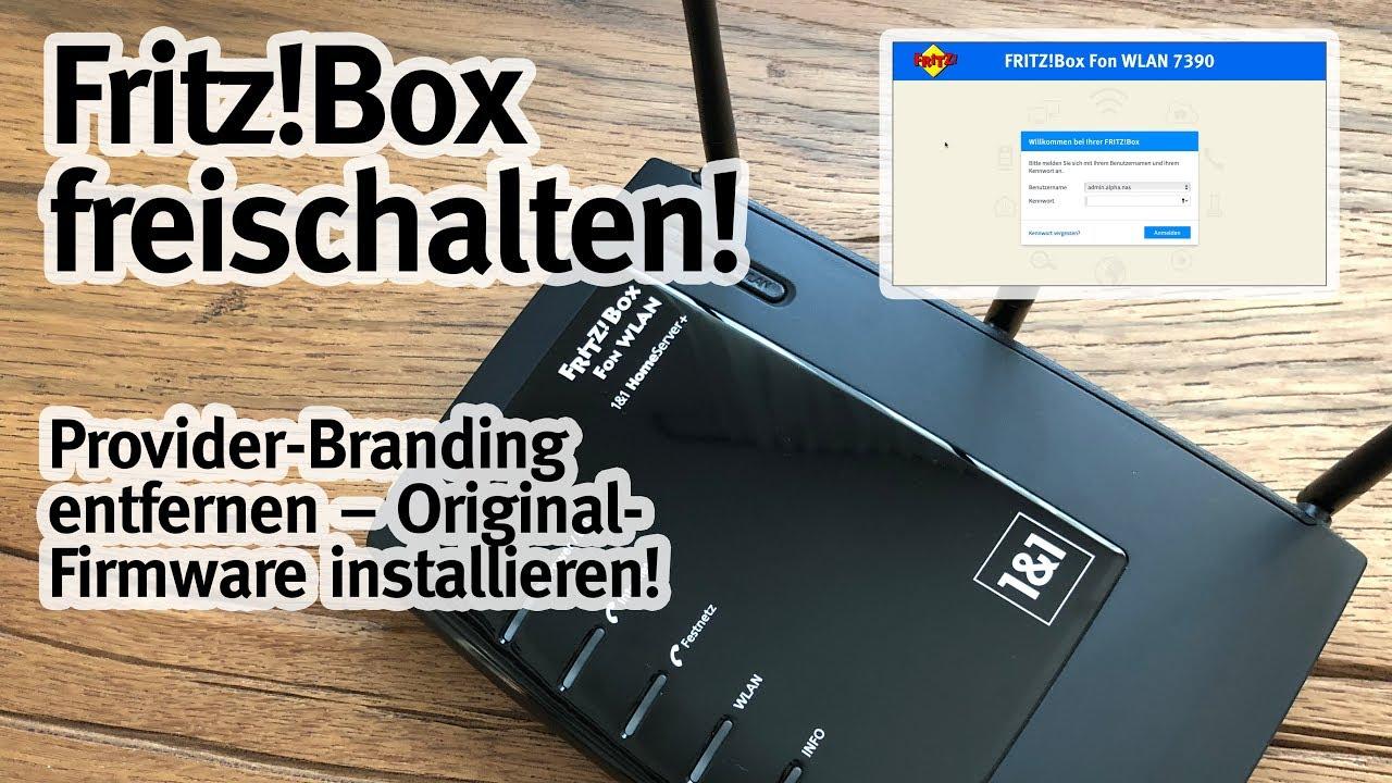 Fritzbox Branding Entfernen