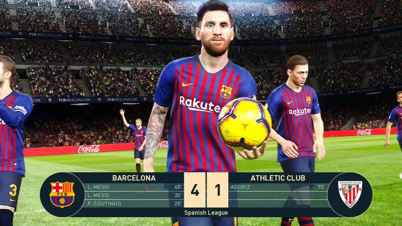 Barcelona vs Athletic Bilbao (Messi Hat trick) 29 ...