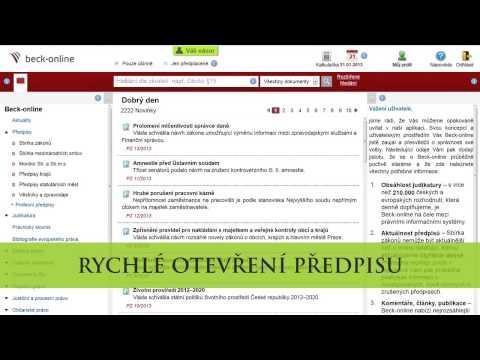 beck-online: rychlé nalezení předpisů
