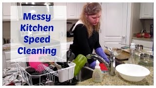 Speed Cleaning My Messy Kitchen