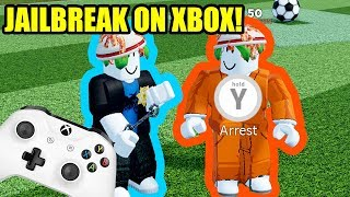PC PLAYER FIRST TIME PLAYING XBOX! | Roblox Jailbreak