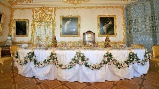 Tutorial of Swag Table and decorate with flowers / Table Cloth Decoration / floral wreath