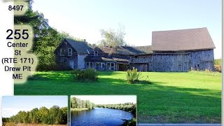 SOLD | Maine Farms For Sale | How About Land, Barn, Black & Blue House For Sale? MOOERS #8479