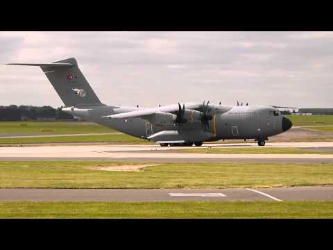 RAF Waddington Air Show 2014 Friday - Turkish Airbus A400M Atlas / Grizzly take off