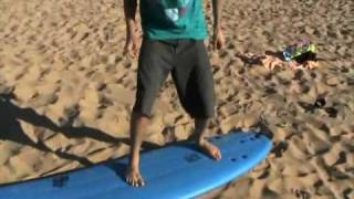Surfing Tip, How to Stand Up on a Surfboard