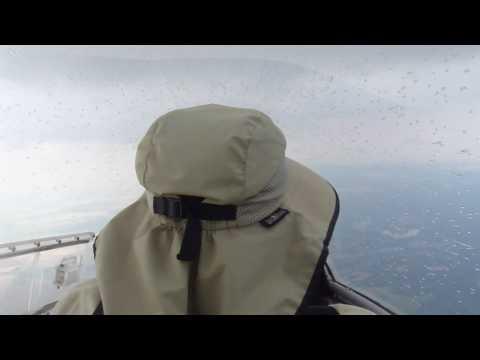 Glider Flying In The Rain Over Arkansas