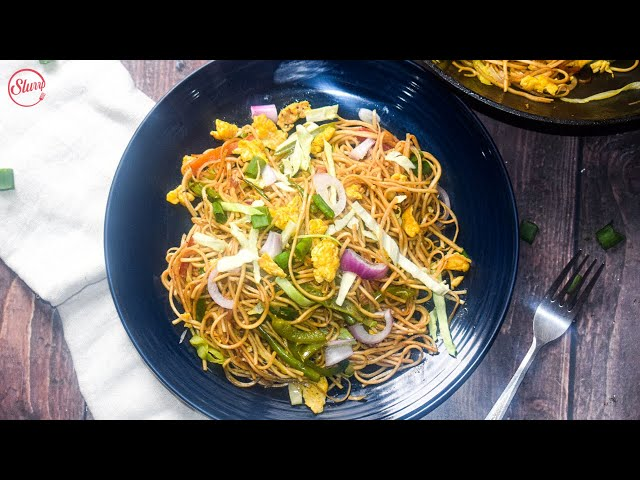 Egg Chowmein | Egg Noodles Recipe