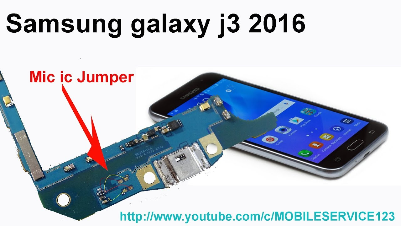 Samsung Galaxy J3 (2016) Mic ic jumper solution