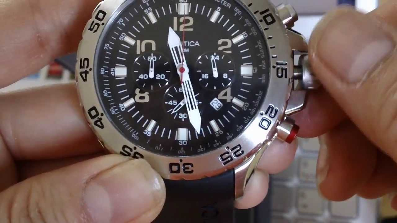 902a90189ad REVIEW  NAUTICA N14536G CHRONOGRAPH LIGHT DIVING MEN S WATCH - YouTube
