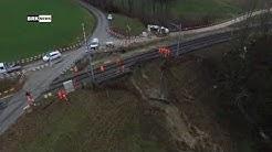 """Berg TG: """"Grosses Glück, dass nichts schlimmeres passierte"""" - Erdrutsch blockiert Zugstrecke"""
