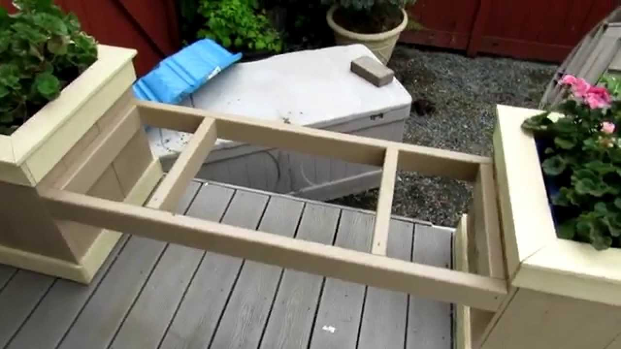 Planter Box Bench - YouTube
