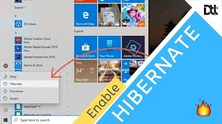 Hibernate - how to Enable it in Windows 10
