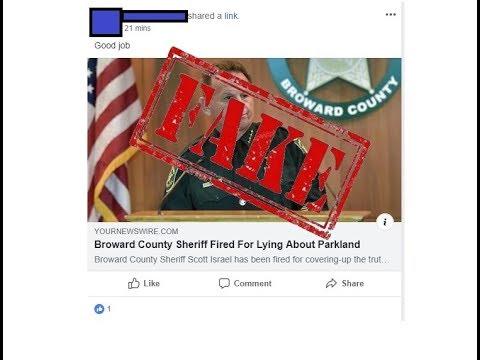Fake News - Broward County Sheriff Fired