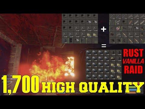 1700 HIGH QUALITY | Rust RAID (Vanilla)