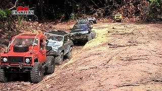 9 trucks scale 4x4 RC offroad rainforest adventures at Bangkit Road Trail