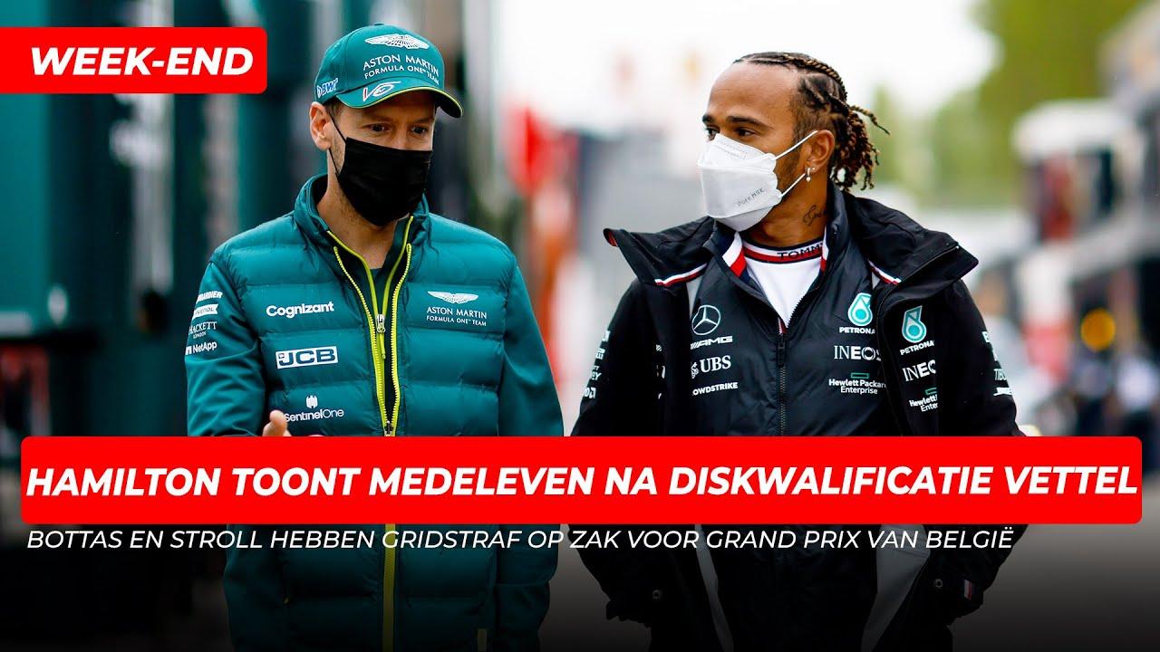 Hamilton toont medeleven na diskwalificatie Vettel: 'Ik ben er kapot van' | GPFans Week-End