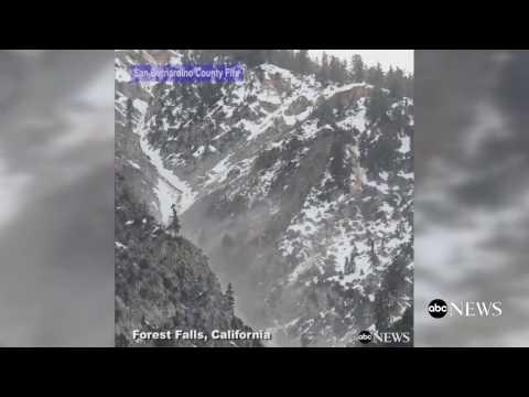 Landslide in San Bernardino County, California