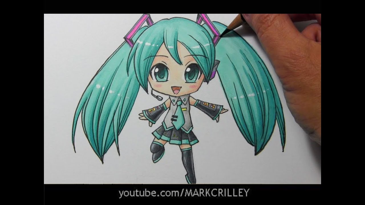 how to draw hatsune miku easy