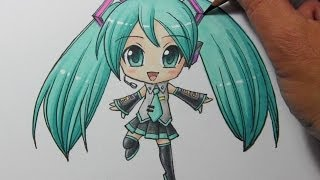 Drawing Time Lapse: Chibi Hatsune Miku