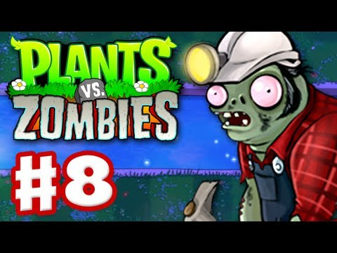 Plants vs. Zombies - Gameplay Walkthrough Part 8 - World 4 (HD)