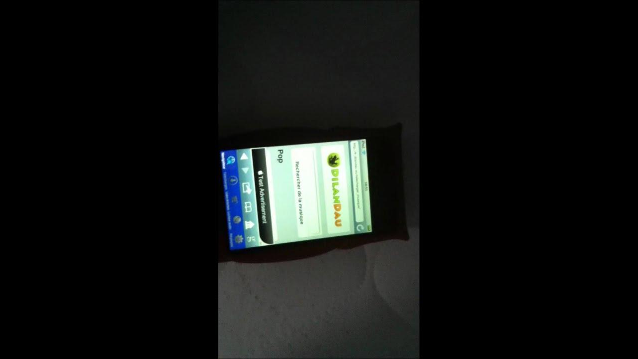 sur dilandau avec iphone