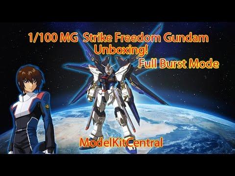 1/100 MG Strike Freedom Gundam - Full Burst Mode - Unboxing