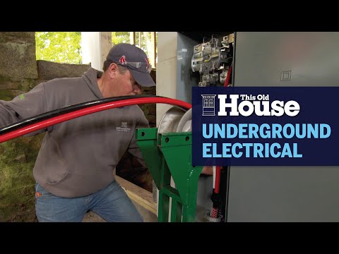 How to Lay Electrical Cable Underground | This Old House