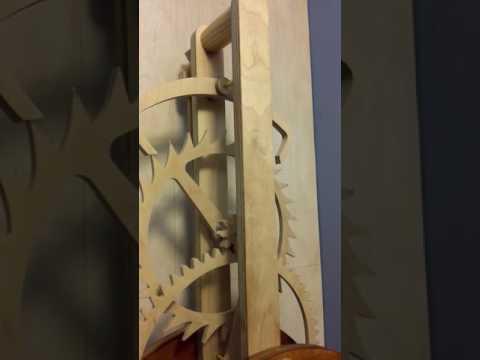 Primus Wooden geared clock