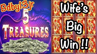 5 TREASURES  - BIG WINS - ONE WILD RUN