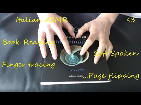 ★  Italian ASMR ★  Soft spoken reading, page flipping, finger tracing a math book ★