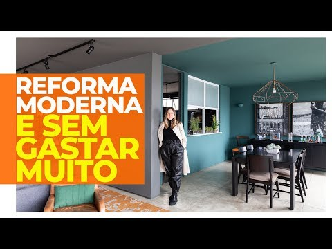 REFORMA MODERNA E ECONÔMICA TRANSFORMA APARTAMENTO ALUGADO SEM GASTAR MUITO